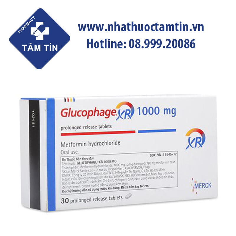 Glucophage XR 1000mg